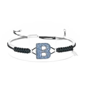 leletterine bracciale b blu