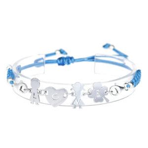 bracciale love azzurro