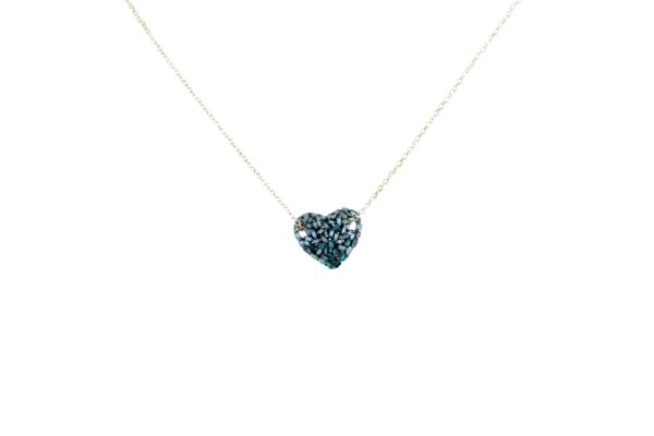 idiamonds collana forzatina cuore blu