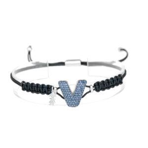 leletterine bracciale v blu