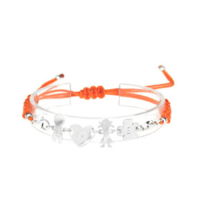 bracciale love arancione