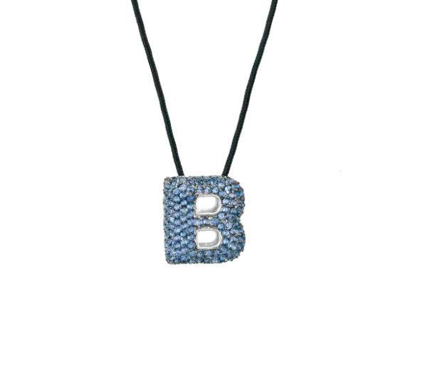 leletterine collana b blu