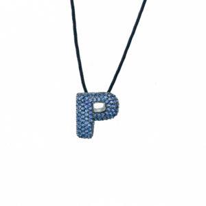 leletterine collana p blu