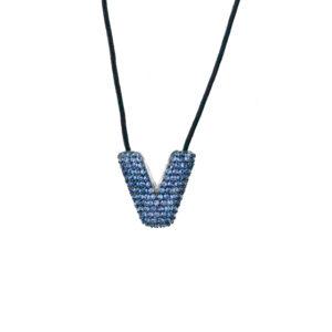 leletterine collana v blu